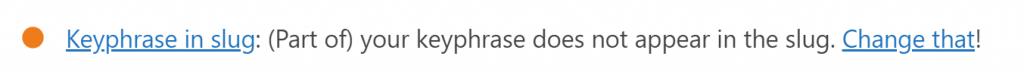 WordPress Yoast SEO分析 - Keyphrase in slug 橘燈